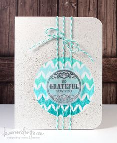 So Grateful For You - change colors for Christmas card - possibly use ornament top die