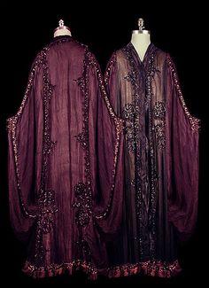 edwardian purple-black beaded coat