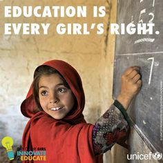 International day of the girl child quotes: education is every girl' Education English, Elementary Education, Faith In Humanity Restored, Child Day, We Are The World, Health Promotion, Quotes For Kids, Child Quotes, Educational Technology