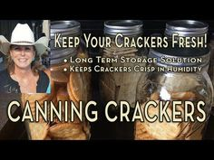 Oven canning crackers or dry canning crackers was a popular method used for pantry canning and storage by our grandparents years ago. Home Canning Recipes, Canning Tips, Oven Canning, Canning Apples, Cooking Recipes, Pressure Canning Meat, Survival Food, Survival Tips, Canning Water