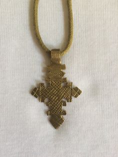 Traditional Ethiopian necklace with a Coptic cross by LiyaWear