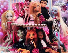 1st Anniversary + Birthday Celebration by =MHScreamQueen on deviantART annalies favorit, high ghoul, high awesom, monster hight, madison board, birthday celebrations, 1st anniversary, fiesta de, de monter