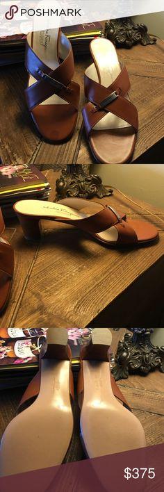 Brand New Salvatore Ferragamo sandals Brand New Salvatore Ferragamo Sandle with a little heel made in Italy size 91/2 Salvatore Ferragamo Shoes Sandals