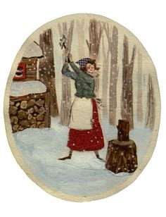 This art by Phoebe Wahl makes me think of Talkeetna -- where men are men, and so are the women!
