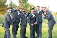 Groom and Groomsmen, this photo cracks me up. A bunch of cheesy goofs.