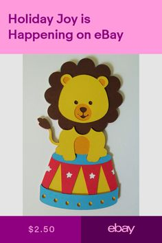 Pre-Made Pages & Pieces Crafts Die Cut Paper, Paper Cutting, Scrapbook Embellishments, Paper Piecing, Lion, Cute, Crafts, Animals, Ebay