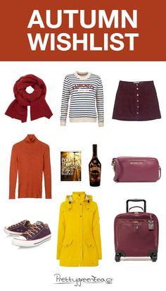 I'm delighted that it's starting to get colder now. Head over to my blog for an autumn wishlist and a discount code. I love fashion during autumn.
