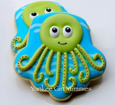 Octopus on Cupcake Cutter | Yankee Girl Yummies