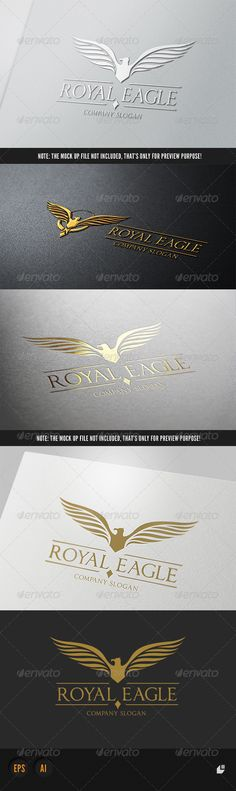 Royal Eagle Logo II  #GraphicRiver         This logo design for all creative business. Consulting, Excellent logo,simple and unique concept.  Logo Template Features   AI and EPS (Illustrator 10 EPS) 300PPI  CMYK  100% Scalable Vector Files  Easy to edit color / text  Ready to print  Font information at the help file