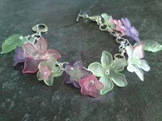 Summer Garden Bracelet with lucite flowers
