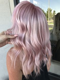 Pastel pink hair by Kathy Nunez