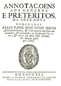 ANOTAÇOES AOS GENEROS E PRETERITOS DA ARTE NOVA - FREIRE (Joao Nunes)