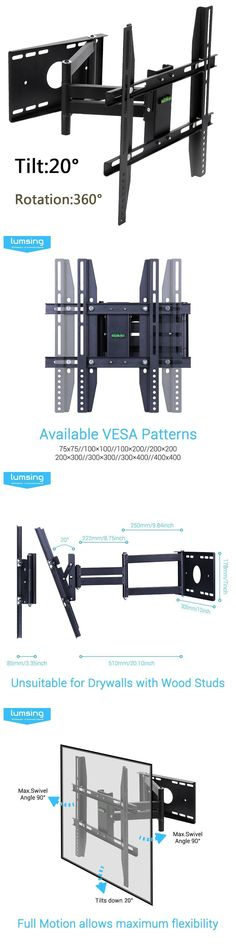 Wonderful TV Mounts And Brackets: Full Motion Tv Wall Mount Bracket Tilt Swivel Led  Lcd 24 Nice Look
