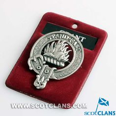 Grant Clan Crest Pewter Cap Badge