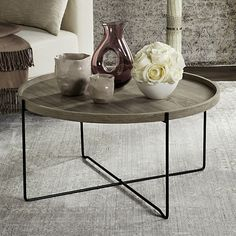 Safavieh Tray Top Contemporary Coffee Table, Grey Other