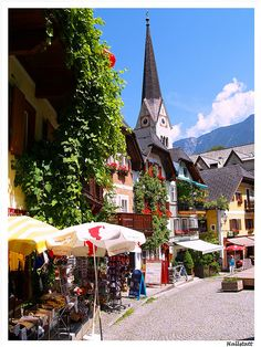 Hallstatt market, Hallstatt, Austria. A UNESCO World Heritage Site, this tiny picturesque Austrian town is known for its production of salt and for having the world's first known salt mine
