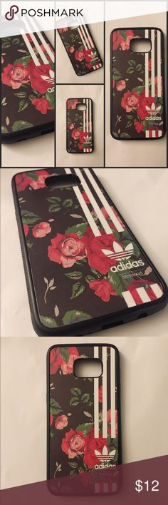 Galaxy S7 edge Floral Adidas Phone Case Compatible with: Galaxy S6, S6 edge, S7, S7 edge, S8, S8 edge Plus, And Note 4 and 5. Also have in IPhone 6 Plus, 6S, 7, 7 Plus. Material: Phone Case Is Rubber and Image is Vinyl which makes it vibrant, durable and waterproof. Accessories Phone Cases