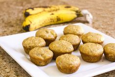 Learn how to make clean eating banana muffins from scratch! Simple ingredients with easy to follow directions and a video that shows the process.