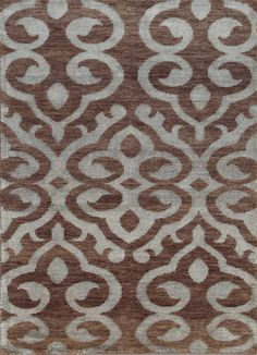 5X8 Hand Knotted Modern Wool & Viscose Rug Carpet and Rug
