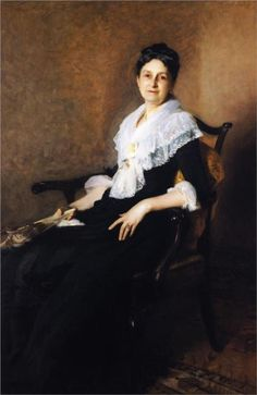 """""""Mrs. Henry Marquand"""" (1887), by Italian-born American artist - John Singer Sargent (1856-1925), Oil on canvas, 169 x 107 cm, Princeton University Art Museum (United States)."""
