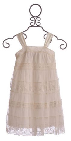 Biscotti Barefoot Wedding Girls Ivory Spring Dress $82.00 (too expensive but darn cute!)