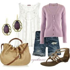 Lavender and Lace, created by cynthia335 on Polyvore