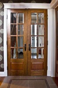 Porte fran aise double surmoulur e et personnalis e for Porte jaune salon