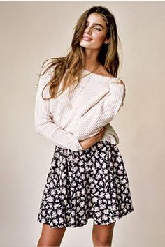 Silence + Noise Stitch Cropped Sweater