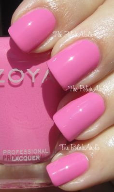 Zoya Summer 2012 Beach Collection -- Shelby is a light blue toned pink creme.
