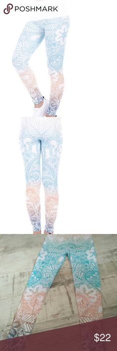 Print Fitness Leggings Brand new, no tags. Fits a small and medium! Super stretchg, comfortable.88% polyester 12% spandex. Offers welcome! Pants Leggings