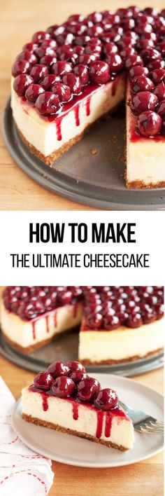 How to make the ultimate cheesecake. Cheesecake is a classic dessert that'll water your mouth simply looking at it. It's no easy feat making it to perfection, but this step-by-step recipe for creamy, no-fail cheesecake explains water baths, best ingredients, and all the smartest tips for perfect cheesecake.