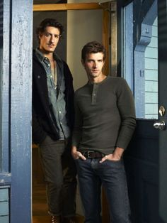 cast of haven on syfy | Eric Balfour as Duke Crocker, Lucas Bryant as Nathan Wuomos in Haven ...