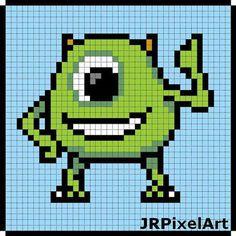Mike Monsters, Inc perler template by JR PixelArt