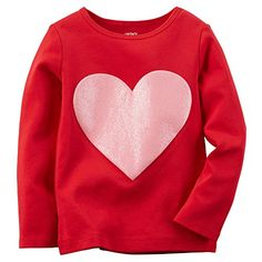 Carters Girl Valentine's Day Heart Tee   Perfect for Valentine's Day (but cute for any day!), this pink sparkly heart brings lots of love to her outfits. Read  more http://shopkids.ca/kids-girl/carters-girl-valentines-day-heart-tee