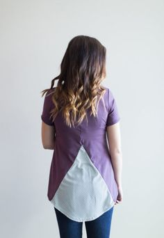 Chiffon Cake Top - violet/mint dot. $64. Chiffon mixed with the softest bamboo blend fabric is a match made in heaven! Wear this one with leggings, ripped jeans or cute shorts - ships in 1 to 3 weeks - Buttercream Clothing Chiffon Cake, Cake Toppings, Match Making, Cute Shorts, Storyboard, 3 Weeks, Summer 2016, Ripped Jeans, Bamboo
