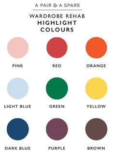 A Pair & A Spare | How to Choose The Colour Palette For Your Wardrobe. Highlight Colours