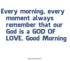 God is a God of love