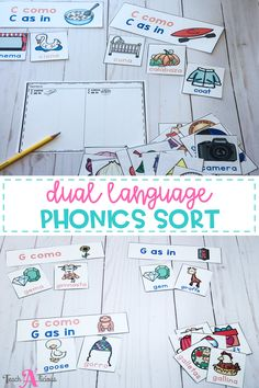 Check out these hard and soft C & G sorting activities. Your first grade and second grade students will love this new activity as part of their literacy station or use it with your small group. This sorting activity is perfect for bilingual & traditional classrooms, all the cards provide the words and picture in both English & Spanish. Perfect for dual language and immersion programs.