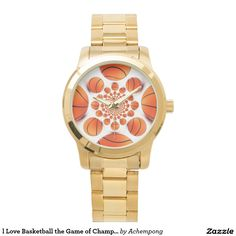 Your #Custom #Oversized l #Love #Basketball the Game of #Champions #watch #Watches l Love Basketball the Game of Champions #Gold #Bracelet
