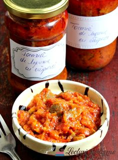 Dulceturi/Conserve Archives - Page 2 of 7 - Lecturi si Arome Good Food, Yummy Food, Tasty, Canning Pickles, Vegetarian Recipes, Healthy Recipes, Romanian Food, Saveur, Canning Recipes