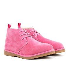 Look at this #zulilyfind! Pink Chukka Suede Boot - Kids #zulilyfinds