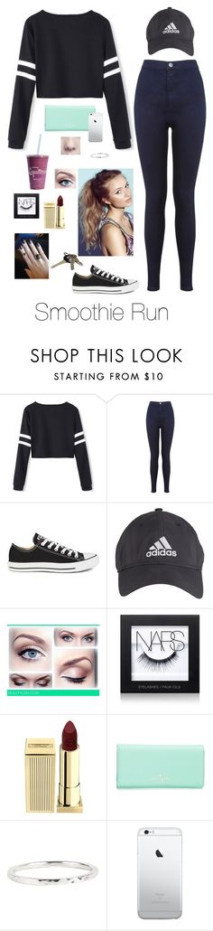 """""""Smoothie Run"""" by brenda-all-over ❤ liked on Polyvore featuring Miss Selfridge, Converse, adidas, NARS Cosmetics, Lipstick Queen, Kate Spade, Dana Reed, Avon, sweet and meetandgreet"""