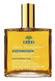 Paris beauty products: Nuxe Huile Prodigieuse Multi-Usage Dry Oil http://beautyeditor.ca/2013/02/04/paris-beauty-products-15-cult-faves-from-the-french-pharmacy-that-you-can-also-buy-at-home/