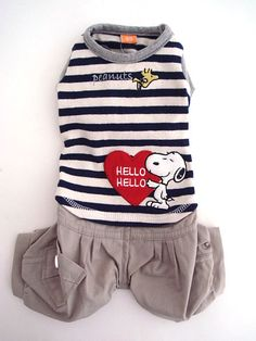 Rakuten: Snoopy: Stripe cargo pant top and bottom SNOOPY: Dog- Shopping Japanese products from Japan