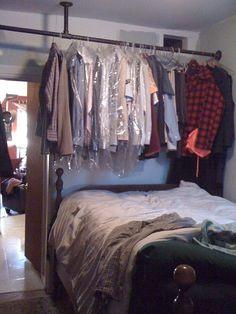 The walk-in closet bedroom