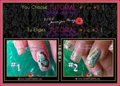 Hi ladies! I have these two designs ready to upload as a VIDEO TUTORIAL. YOU choose which one you want to learn first by commenting over on Facebook http://www.facebook.com/MysticNails.Fan #1 or #2 below this picture on FB. You have until 10 pm tonight.  Thankx! XOXO Jennifer :) #Mystic #Nails ......... {}{}{}♥{}{}{} ..........