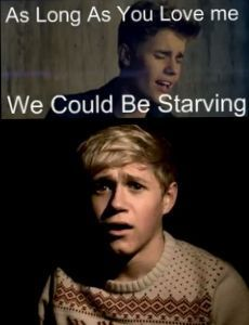 Clearly, Niall Horan would rather have food and be single.