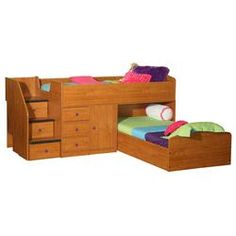 Twin Over Full L-shaped Bunk Bed With Stairway Chest