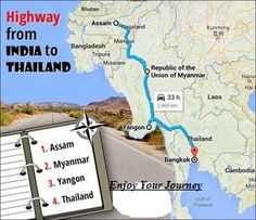 #‎DidYouKnow‬: This ‪#‎travelling‬ to Thailand by road . . .  The 3200 km long India-Myanmar-Thailand trilateral highway will be fully operational by November this year