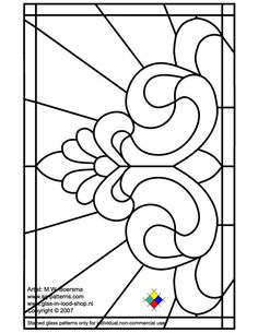 ★ Stained Glass Patterns for FREE ★ glass pattern 099 ★